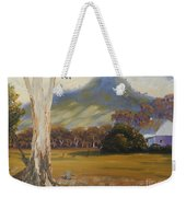 Farm With Large Gum Tree Weekender Tote Bag