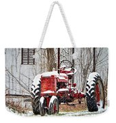 Farmall Tractor In Winter Weekender Tote Bag