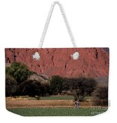Farmer In Field In Northern Argentina Weekender Tote Bag