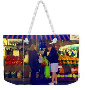Farmers Market Bushels And Baskets Of Apples Fruit And Vegetables Food Art Scenes Carole Spandau Weekender Tote Bag