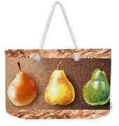 Farmers Market Drive Through Red Yellow And Green Pear Weekender Tote Bag