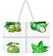 Farmers Market Gifts Green Vitamins Weekender Tote Bag