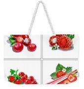 Farmers Market Gifts Red Vitamins Weekender Tote Bag