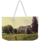 Farmhouse And Landscape Weekender Tote Bag
