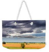 Farmhouse In The Storm Panorama Weekender Tote Bag