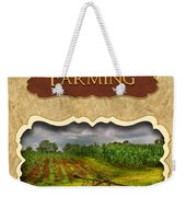 Farming And Country Life Button Weekender Tote Bag