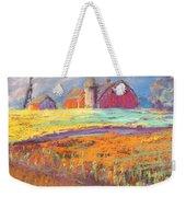 Farmland Sunset Weekender Tote Bag