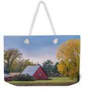Farmstead With Fall Colors Weekender Tote Bag by Paul Freidlund