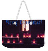 Farolitos Or Luminaria Below Window 1-2 Weekender Tote Bag