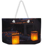 Farolitos Or Luminaria On Wall Weekender Tote Bag