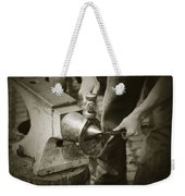 Farrier Making Horseshoe Weekender Tote Bag