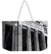 Farrington Field Facade Bw Weekender Tote Bag