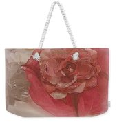 Fascinator Hats In White And Rose Weekender Tote Bag