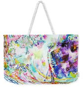 Fashion Lady And Death Under A Tree Weekender Tote Bag