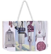 Fashion Plate, From La Femme Chic Weekender Tote Bag