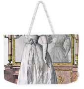 Fashion Plate Of A Lady In Evening Weekender Tote Bag