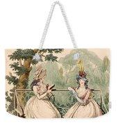 Fashion Plate Of Ladies In Summer Day Weekender Tote Bag