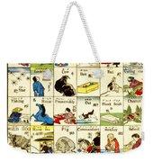 Fashionable Melange Of English Words 1887 Weekender Tote Bag