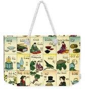Fashionable Melange Of English Words Weekender Tote Bag