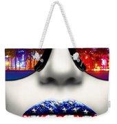 Fashionista Miami Silver Weekender Tote Bag
