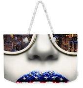 Fashionista New York Silver Weekender Tote Bag