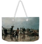 Fastening The Nets Weekender Tote Bag by Edouard Joseph  Dantan