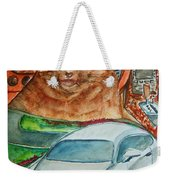 Fat Cat And The Bentley Weekender Tote Bag
