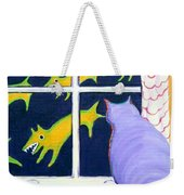 Fat Inside Cat - Why Fluffie Can Not Possibly Go Out Weekender Tote Bag