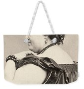 Fat Lady, 19th Century Weekender Tote Bag
