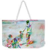Father And Children Weekender Tote Bag