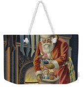 Father Christmas Filling Children's Stockings Weekender Tote Bag