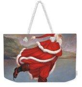 Father Christmas Skating On Duddingston Loch Weekender Tote Bag