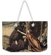 Father Father Tell Me What Ails Thee With Dismay Thou Art Filling Thy Child Weekender Tote Bag by Arthur Rackham
