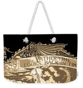 Father Time Looks Back Weekender Tote Bag