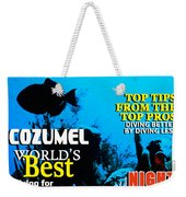 Fathms Faux Magazine Cover Weekender Tote Bag