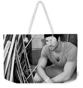 Faubourg Alley Man Bw Weekender Tote Bag