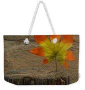 Faux Leaf Weekender Tote Bag