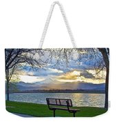 Favorite Bench And Lake View Weekender Tote Bag