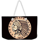 Fawn Gold Quarter Eagle Weekender Tote Bag