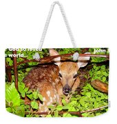 Fawn In The Forest - Inspirational - Religious Weekender Tote Bag