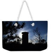 Fct1 Fire Control Tower 1 In Silhouette Weekender Tote Bag