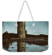 Fct3 Fire Control Tower Reflections In Sepia Weekender Tote Bag
