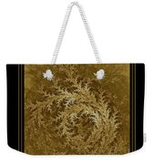 Fear Of The Forest-2 Framed Black And Gold Weekender Tote Bag