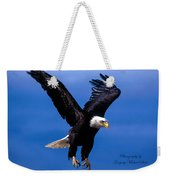 Fearsome Bald Eagle Weekender Tote Bag