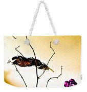Feather And Carnation Weekender Tote Bag