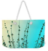 Feather Drops With Blue Weekender Tote Bag