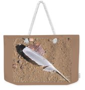 Feather On Damp Sand Weekender Tote Bag