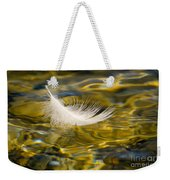 Feather On Golden Water Weekender Tote Bag