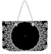 Feathers And Circles Kaleidoscope In Black And White Weekender Tote Bag