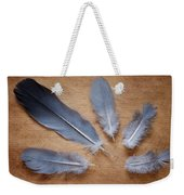 Feathers And Old Letter Weekender Tote Bag